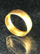 22ct Gold Band size L (approx 4.2g)