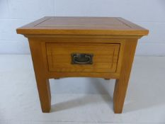 Single modern solid wood bedside table with drawer