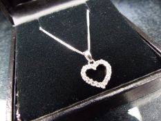 Silver chain with a silver Heart both marked 925