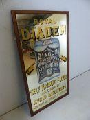 Large Advertising mirror for ROYAL DIADEM Self raising flower approx 124cm x 67cm