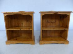 Pair of pine bedside shelving units