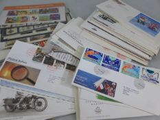 Collection of first day covers and seven complete sheets of early Wildings