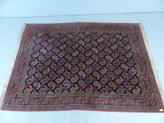 Pink and blue patterned ground rug approx. 172cm x 232cm