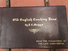 An illustrated book Old English Coaching Inns by J C Maggs containing 16 pictures from the