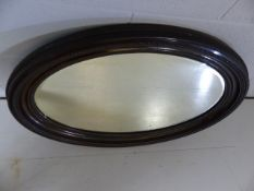 Large Oval bevel edged mirror