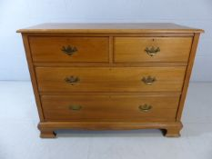 Satinwood five drawer chest of drawers