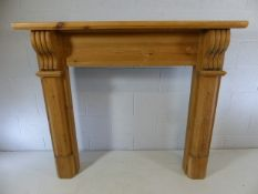 Pine fire surround with mantle