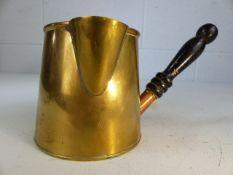 Brass milk warming jug