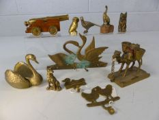Collection of brass animals