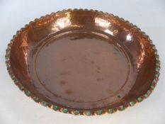 Copper bowl approx 26cm in diameter