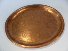 Small copper oval shaped tray approx. 27cm across