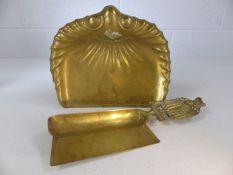 Brass crumb pan and scraper