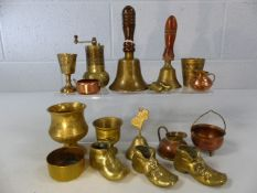 Collection of miniature brass and copper items