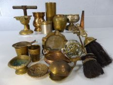 Box of miscellaneous brass and copper
