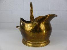 Brass coal bucket approx 26cm tall