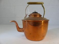 Copper teapot with brass handle