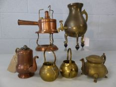 Collection of brass and copper items