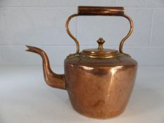 Copper and brass kettle