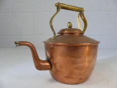 Copper and brass stove kettle