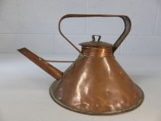 Small flat-based copper kettle