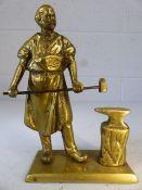 Brass figuring of an ironmonger approx 20cm tall