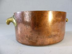 Small oval copper and brass pot