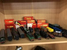 Hornby OO/00 collection of Locomotives and mostly carriages and wagons also with a collection of all