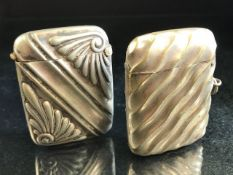 Two Silver plated vesta cases one marked ALBO silver