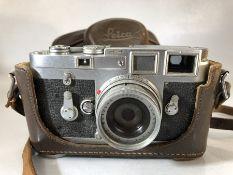 Leica DBP ERNST LEITZ WETZLAR germany M3 - 976865 LEITZ WETZLAR ELMAR Lens 1:2.8 750 serial 1935655