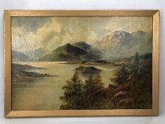 W. Richards, (F.E. Jamieson), Loch Lomand , oil on canvas, signed W. Richards, approx 60cm x 40cm