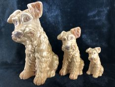 Set of three graduated SYLVAC dogs