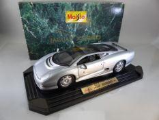 A die-cast boxed Jaguar XJ220 Mamod 1992 motor car 1:12 scale