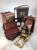 A C.P. Goerz 'Tenax' folding plate Camera, circa 1918 with compur shutter, double bellows extension,