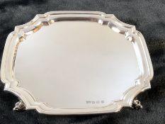 Sheffield hallmarked silver tray maker EV approx weight 323g