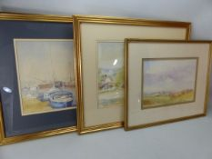 Three watercolours by MOLLY STANDING, signed lower right