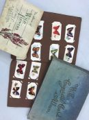 Three albums of cigarette cards to include Wills wild flowers etc