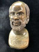 Heavy stone bust of a man
