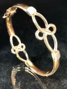 9ct Gold Bracelet stamped 375 (approx 20.3g)
