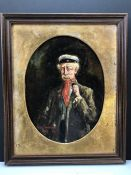Oil on Board signed Cecil Fowler 1927 lower left and described to reverse as WILLIAM PRINGLE AS