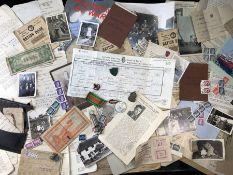 WWII interest: A collection of World War II Ephemera to include Letters Reports from CAMP ROOSEVELT,
