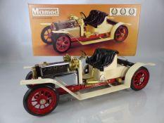 A boxed Mamod steam Roadster SA1 motor car as new
