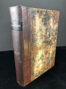 Antiquarian large leather bound book: Old England : a pictorial museum of regal, ecclesiastical,