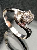 18ct white gold single stone diamond ring of approx 0.40cts