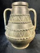 Ceramic two-handled urn
