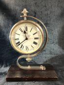 Modern Quartz clock in Chrome with white face marked 49, Regent Street London