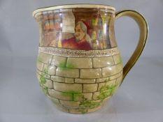 A Royal Doulton series ware 'Jackdaw of Rheims' pattern water jug, marked to base