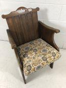 Oak Unusual solid low chair
