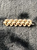 Gold Brooch unmarked but tests as 9ct carat