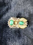 Arts & Crafts Brooch, Silver with coloured stones