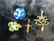 Collection of Jewellery to include cross & enamel pieces